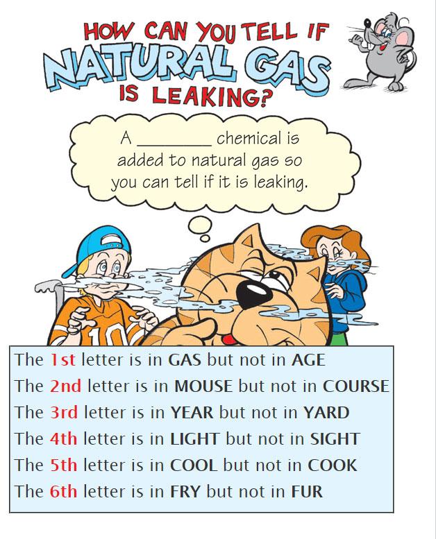natural gas leak