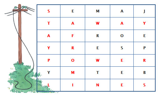 word cross puzzel answers