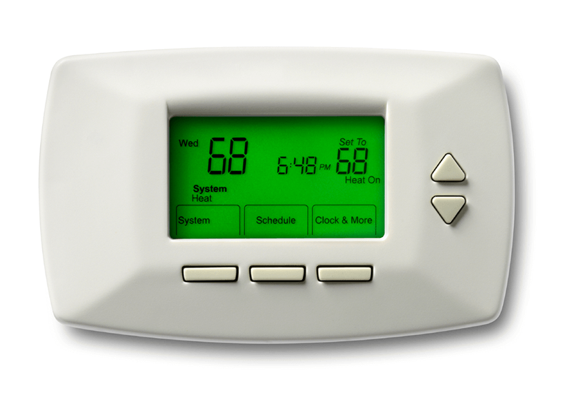 close up digital thermostat