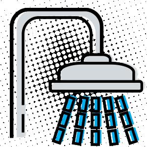 66405 shower line icon