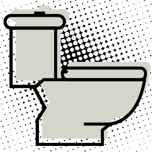 66405 toilet line icon